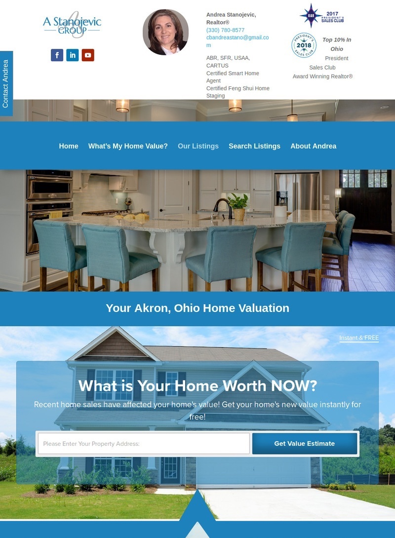 Real Estate Web Page Design Development Landing Page