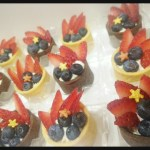 Mini berry tartlets