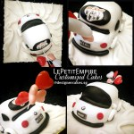 3D Sculpted Wedding BMW Car Fondant Cake