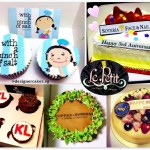 Customized Company Logo Cup Cakes & Cakes.