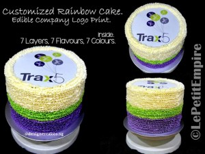 Customized Logo - Rainbow Cream Cake