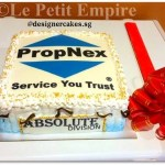 Customized Photo, Logo Cake - Propnex Cream Cake