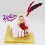 Fabulous Piggy Cake With Glitter Shoes & Feathers