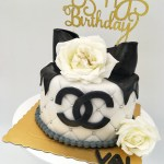 Fresh Flower Cakes - one tier fondant cake with roses
