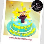 Customized Fondant Cake Twinkle Little Stars Moon and Owl Figurine Cake