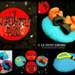 Muay Thai Boxing Ring Customized Fondant Cup Cake