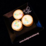 Petit Cheese Tartlets with Pastel Rainbow Stars