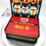Real Cash Money, Pop-Out 3D Jackpot Fondant Cake. Singapore Customized Cakes