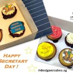 Secretary Day Print Cup Cakes