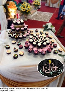 Wedding Event - Singapore Silat Federation, Cup Cake Tower