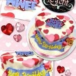 Heart Shaped Customized Fondant Cake