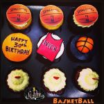 Customized Basketball Cup Cake Ball