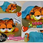 3D Fondant Sculpted Cat with Blanket Cake