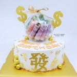 Gold Money Ball Cake