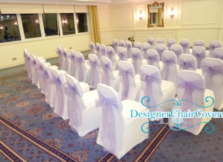 lilac organza sashes white chair covers
