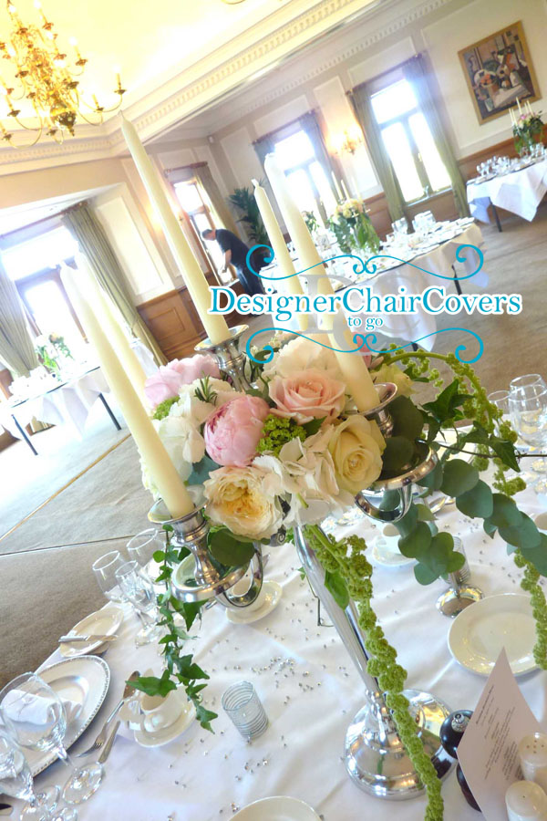 large candelabra wedding