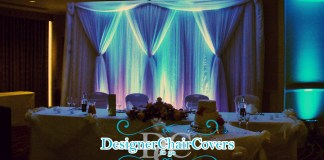 dramatic backdrop draping