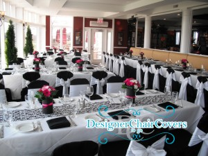 black chair covers wedding unique party