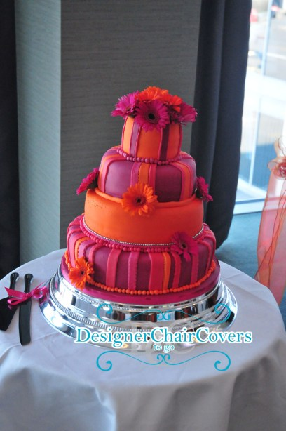 orange wedding cake luxury