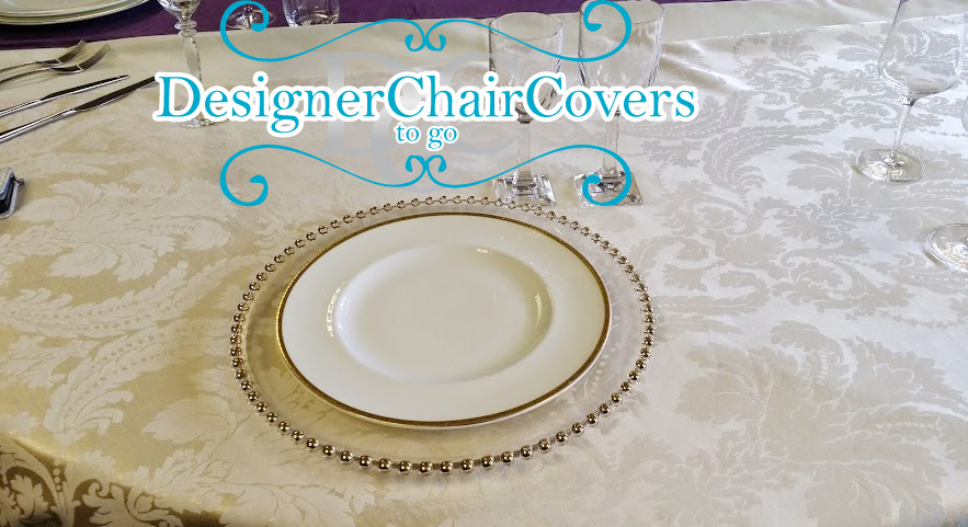 silver beaded charger plate