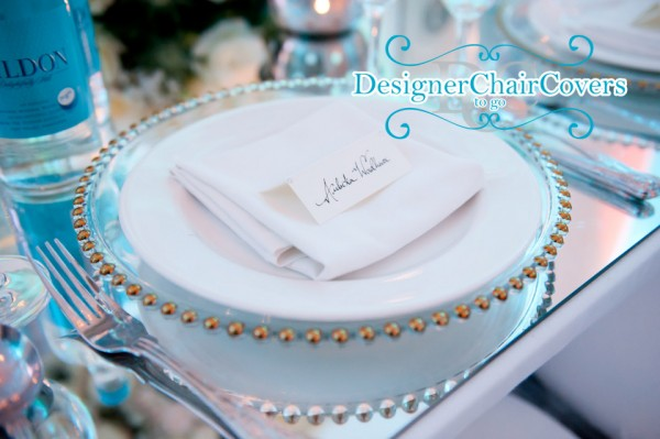 beaded charger plate