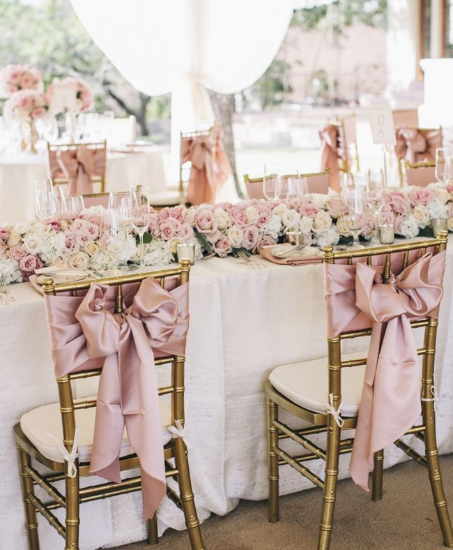 Wedding Table Decorations: Blush Pink Wedding Inspiration Ideas