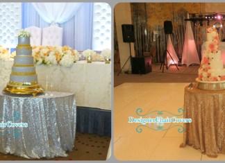 sequin cake table wedding