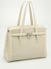 Couture satchel -Ivory Embossed
