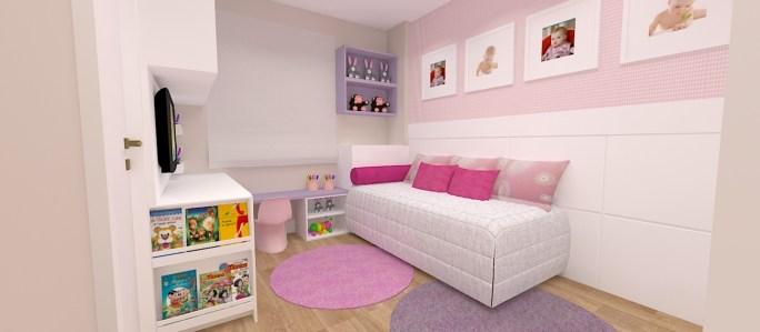 quarto de menina multifuncional