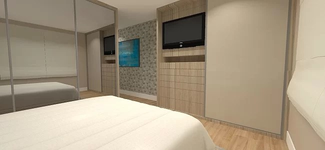 01 dormitorio do casal com tv dentro do armario