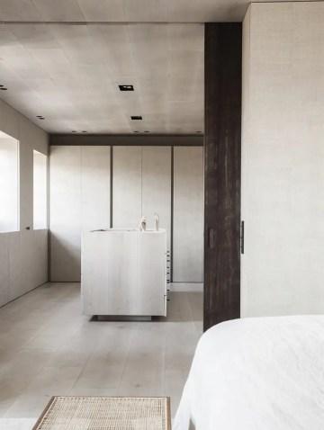 rangement épuré minimaliste aménagement