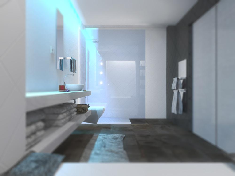plan salle de bain moderne