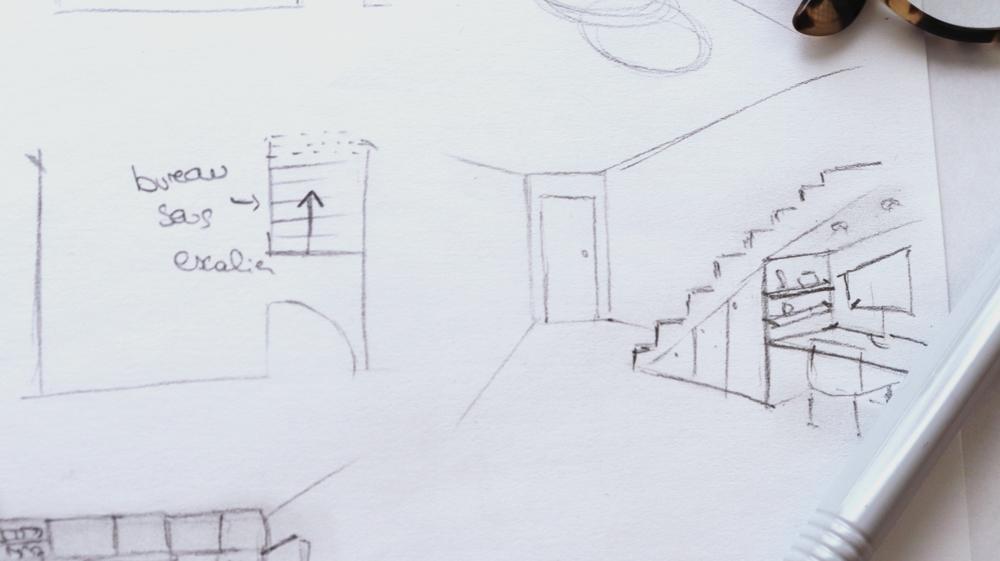 plan entrée appartement