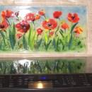 Floral Kitchen Backsplash (Red Poppies)