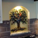 Tree of Life Kitchen Backsplash