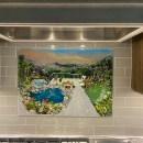 Backyard Oasis Fused Glass Mural