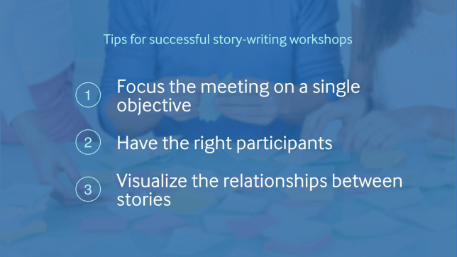 Better User Stories》Lesson#1 - Three Tips for Successful Story Mapping in a Story-Writing Workshop.
