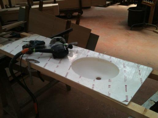 Fabrication du plan de vasque