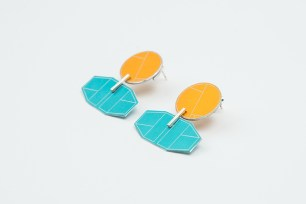 Beth Spowart: Orange & Blue Seat Earrings