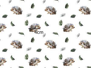 Hedgehog Fabric – Minky – EOB