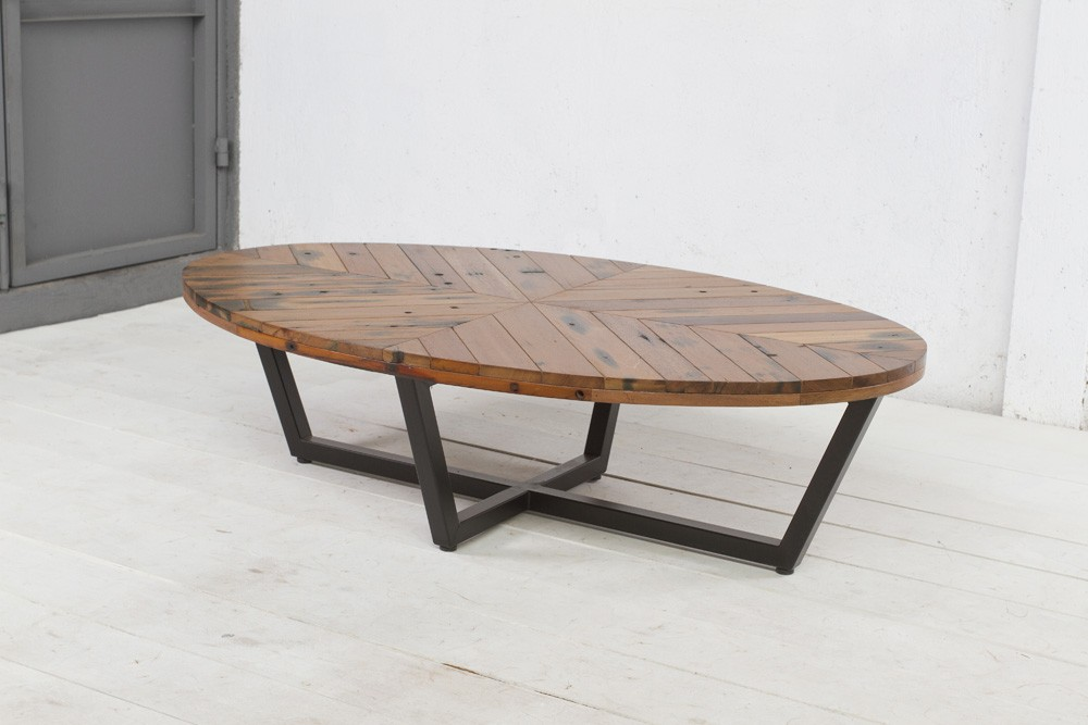duke oval coffee table on designer pages
