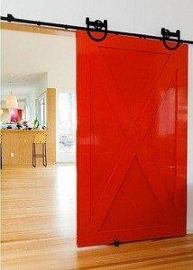 RED Barn Door- what's not to love