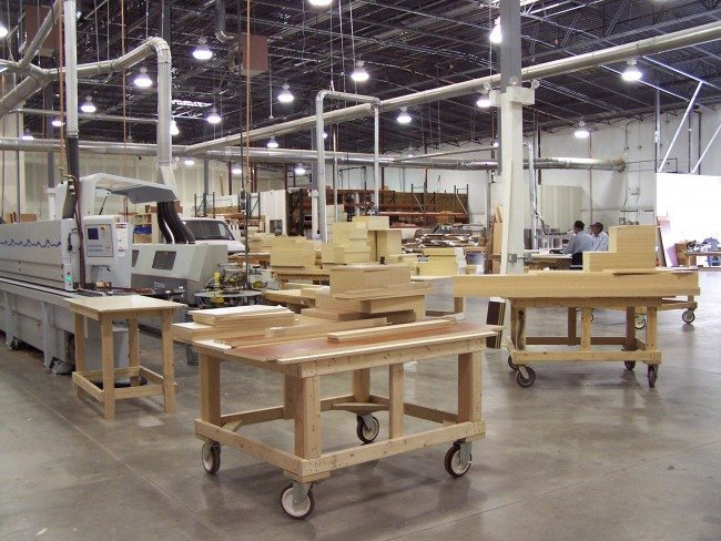 Closet Factory Warehouse in Centennial were Custom Closet are manufactured
