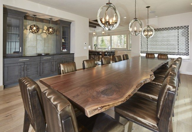 Interior Design Trends for 2016 encourage natural shape of the wood