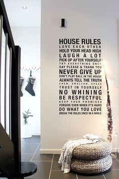 House rules wall murals