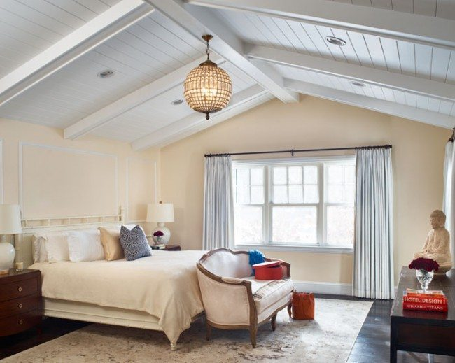 modern farmhouse master suite