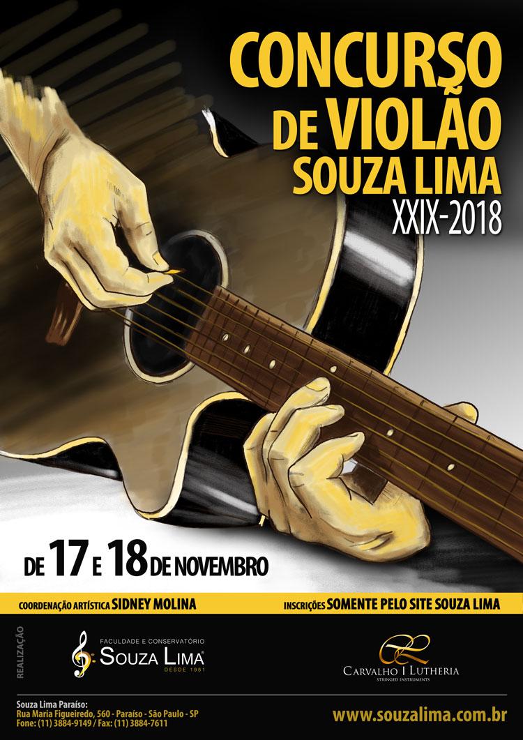 Ilustração Concurso de Violão Conservatório e Faculdade Souza Lima