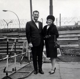 Mom & Dad at the Berlin Wall, 1965