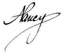 Nancy's signature