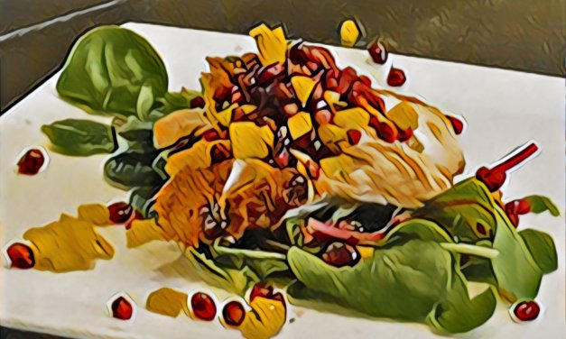 VIDEO: Barbequed Salmon with Pomegranate & Mango Salsa